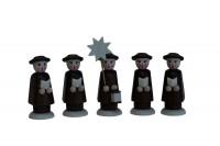 Vorschau: Nestler-Seiffen, Weihnachtsfiguren Kurrende, braun, 5 - teilig_Bild2