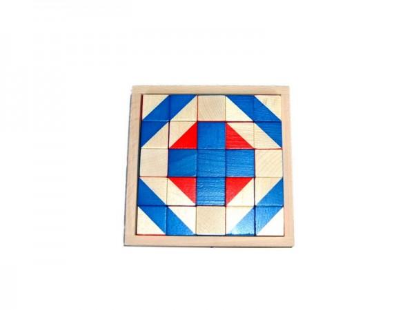 Würfelmosaik, 25 Holzbausteine, farbig