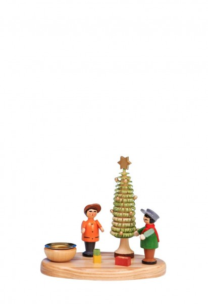 Knuth Neuber, Weihnachtskerzenhalter Bescherung, farbig