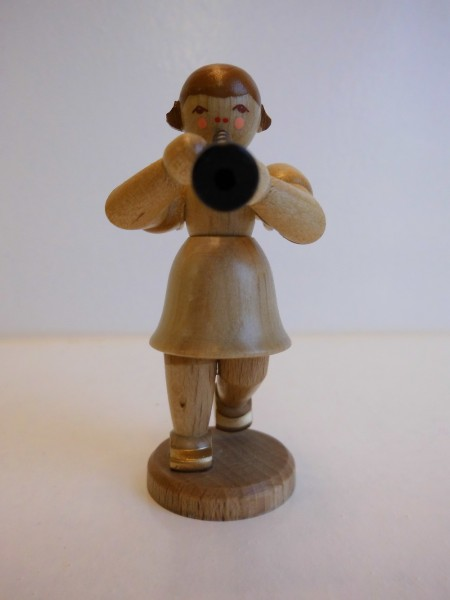 Kurzrockengel mit Instrument Klarinette in natur von Nestler-Seiffen aus Seiffen/Erzgebirge.