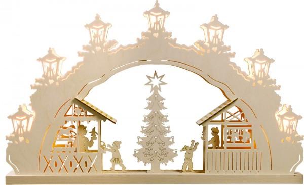 Weigla LED Schwibbogen Weihnachtsmarkt