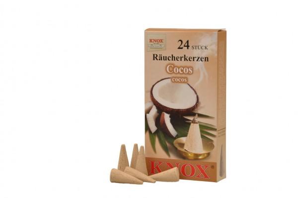 Räucherkerzen - Cocos, 24 Stück von KNOX
