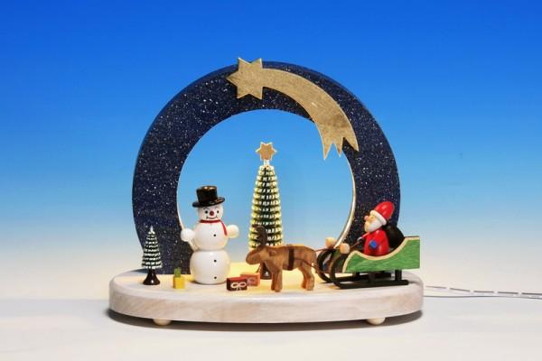 LED Sockelbrett Bescherung am Nordpol verzaubert mit seinen schönen Figuren und der wunderschönen farbigen Gestaltung der Figuren. Der Bogen wird durch LED …