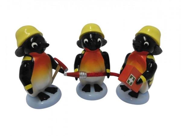 Pinguine von Nestler-Seiffen Feuerwehr, 3 - teilig