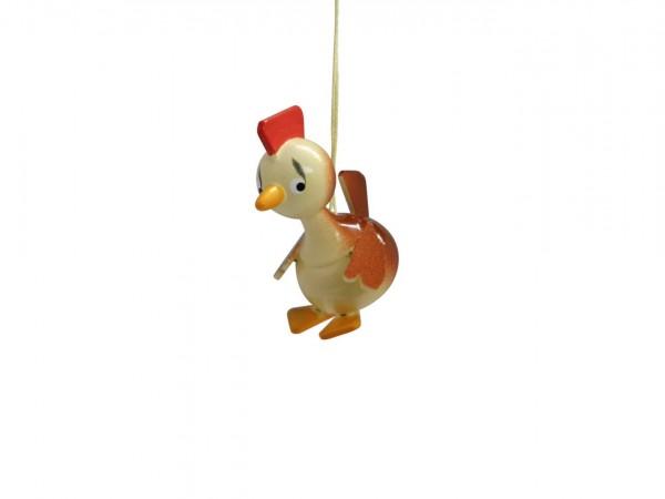 Frühlingsdeko Hühnchen zum hängen, 5 Stück, 4 cm von Nestler-Seiffen Seiffen/ Erzgebirge