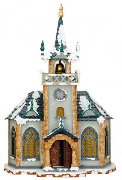 Kirche aus Holz elektrisch beleuchtet von Hubrig Volkskunst