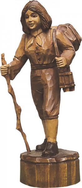 Wandersfrau, gebeizt, geschnitzt, in verschiedenen Größen
