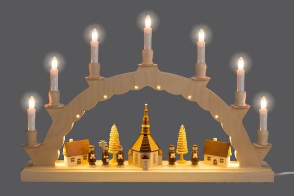 Der Schwibbogen Seiffener Dorf mit 2-facher Beleuchtung verzaubert mit seiner wunderschönen Illuminierung des Bogens. Neben den klassischen 7 Kerzen auf dem …