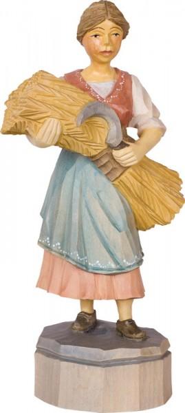 Bäuerin, farbig, geschnitzt von Schnitzkunst aus dem Erzgebirge_Bild1