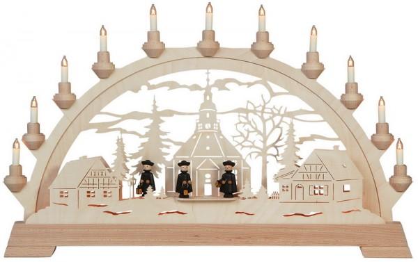Schwibbogen Seiffner Kirche mit Figuren, 65 cm von KWO