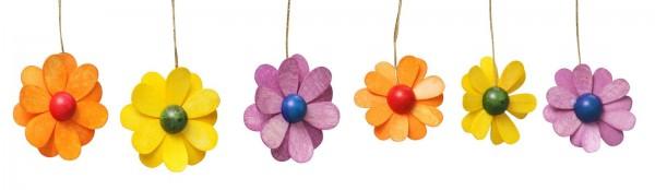 Frühlingsdeko Blüten, 6-teilig, bunt, 3,5 cm von Thomas Preißler Seiffen/ Erzgebirge Größe: ca. 3,5 cm Material: heimische Hölzer, hochwertige Farben und Lacke