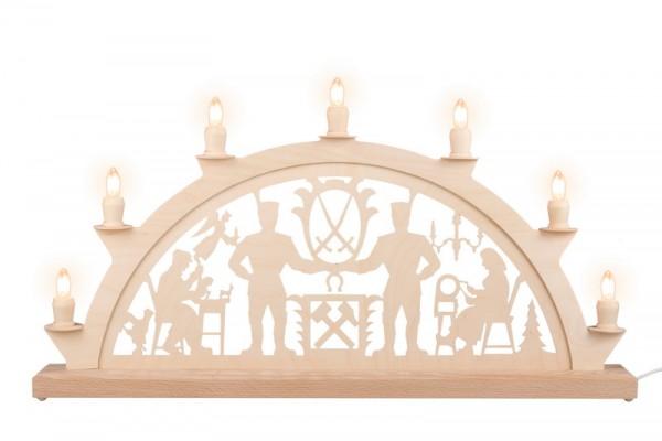 LED Schwibbogen Schwarzenberger, 60 x 30 cm, 7 Kerzen, Ersatzkerzen: EL55LED, Nestler-Seiffen.com OHG Seiffen/ Erzgebirge