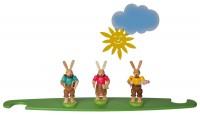 Vorschau: Motivplattform Hasen, farbig für Moderne LED Lichterspitze, natur von Müller Kleinkunst