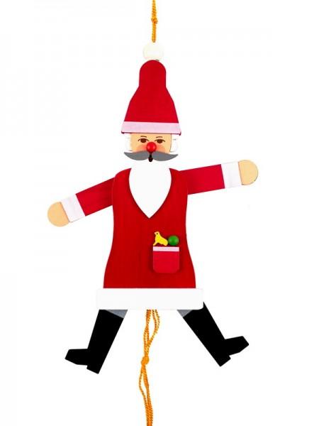 Einen Hampelmann muss doch jeder haben! Diese Gliederpuppe ist aus Holz und hat den Weihnachtsmann als Motiv. Für Liebhaber nicht nur zur Weihnachtszeit ein …