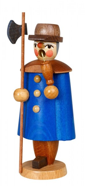 Räuchermännchen Nachtwächter, blau, 11 cm von Jan Stephani
