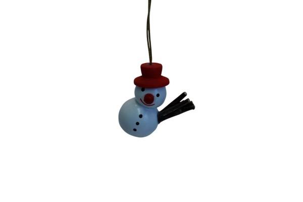 lustiger Schneemann mit rotem Hut von Nestler-Seiffen_Bild2