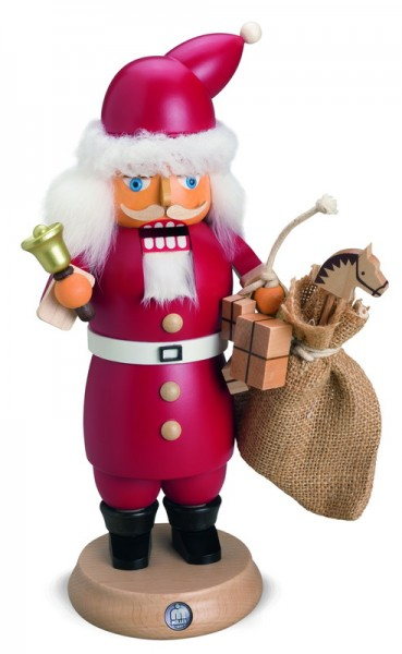 Rauchknacker® Weihnachtsmann mit Glocke und Geschenkesack_1, 14 x 27 cm von Müller Kleinkunst