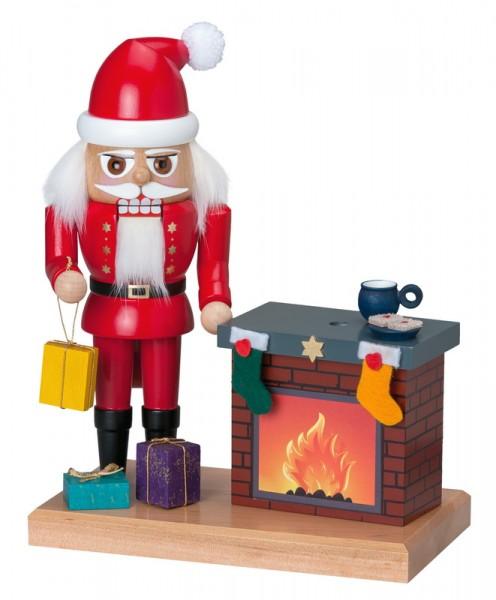 Nussknacker Weihnachtsmann mit rauchendem Kamin von KWO