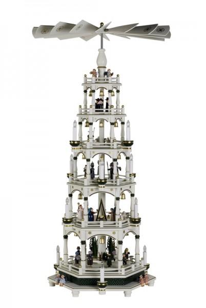 Weihnachtspyramide, 5 - stöckig, weiß - grün, elektrisch von KWO