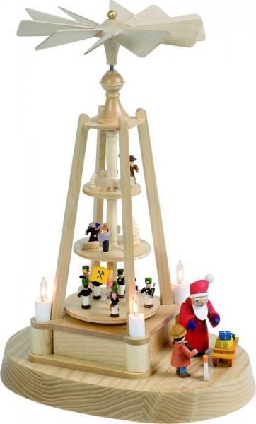 Weihnachtspyramide Minipyramide, elektrisch beleuchtet, 27 cm, Richard Glässer GmbH Seiffen/ Erzgebirge