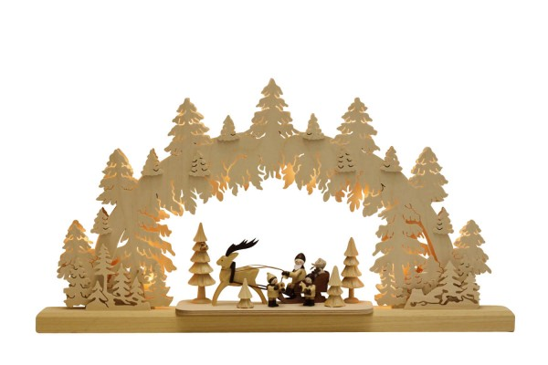 Schwibbogen von Romy Thiel Rentierschlitten, 63 cm, elektrisch beleuchtet_Bild1