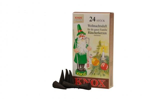 Räucherkerzen - Weihnachtsduft, 24 Stück von KNOX
