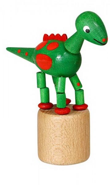 Wackelfigur grüner Dinosaurier von Jan Stephani