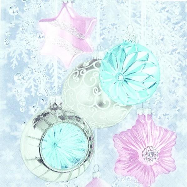 Weihnachtsservietten Soft Baubles von Home Fashion®