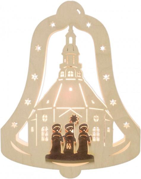 Weigla Beleuchtetes Fensterbild Glocke mit Kurrendesänger