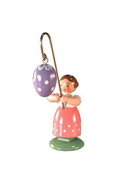 Ostermädchen von WEHA-Kunst mit violettem Osterei, 11 cm_Bild1