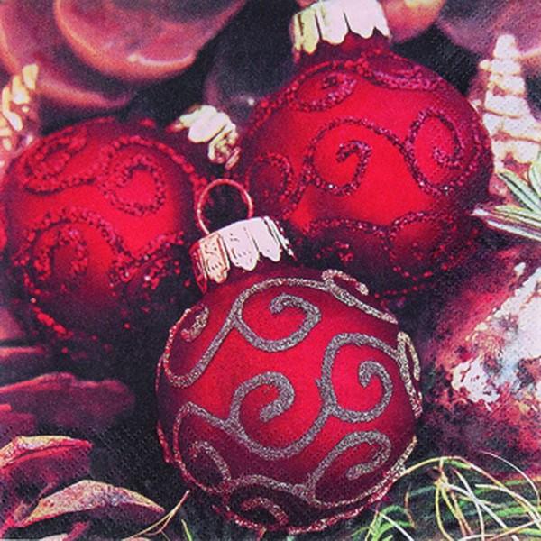 Weihnachtsservietten Classy Christmas Balls von Home Fashion®
