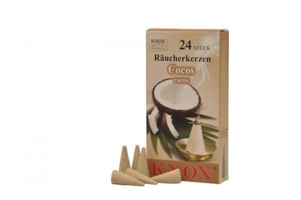 Räucherkerzen - Cocos, 24 Stück pro Packung von KNOX - Apotheker Hermann Zwetz