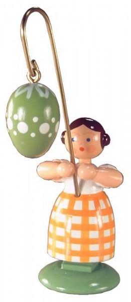 Ostermädchen von WEHA-Kunst mit grünem Osterei, 11 cm_Bild1