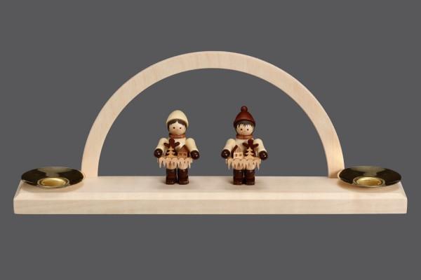 Mini-Schwibbogen Striezelkinder, 23 x 8,5 x 4,2 cm, Nestler-Seiffen.com OHG Seiffen/ Erzgebirge