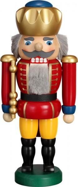 Hier erscheint Ihre Majestät der Nussknacker König in rot, mit 25 cm von der Seiffener Volkskunst eG Seiffen/ Erzgebirge. Dienten früher die Nussknacker oder …