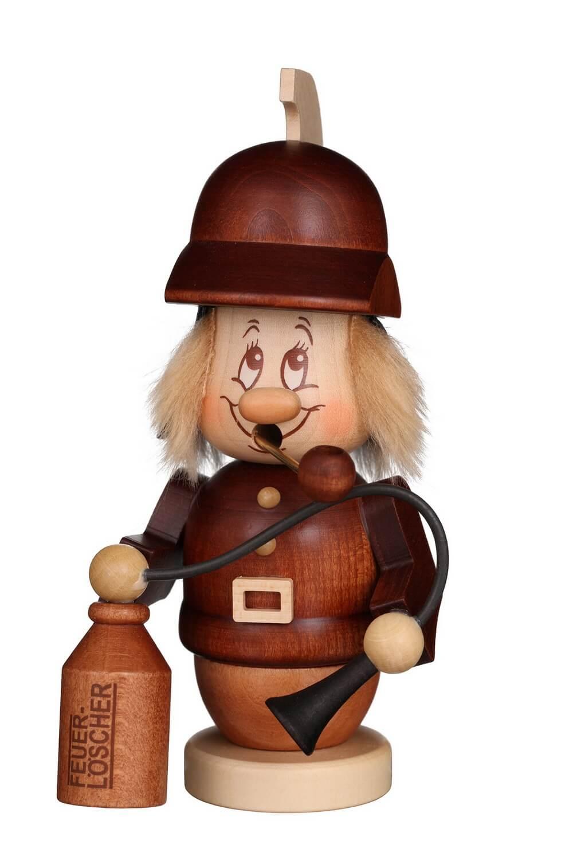 Räuchermännchen Miniwichtel Feuerwehrmann mit der typischen Knubbelnase und dem freundlichen Gesicht von Christian Ulbricht Seiffen/ Erzgebirge ist 16 cm …