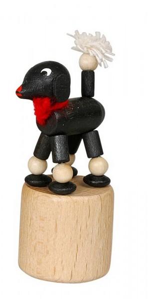 Wackelfigur schwarzer Pudel von Jan Stephani