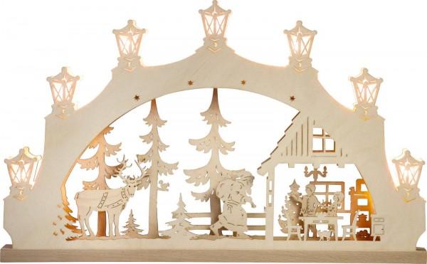 Weigla LED Schwibbogen Weihnachtsabend