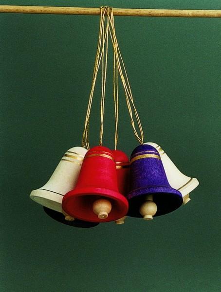 6 große Glocken mehrfarbig zum hängen von Gunter Flath aus Seiffen / Erzgebirge Sechs wunderschöne mehrfarbige Glocken zum Aufhängen. So wird jeder …