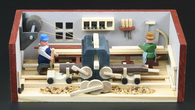 Miniaturstübchen Sägewerk von Gunter Flath aus Seiffen / Erzgebirge Detailgetreue Nachbildung eines Sägewerkes aus früheren Zeiten. Hier kann man genau …
