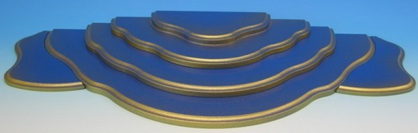 Wolkenstecksystem blau/gold bestehend aus 2-stufiger Grundwolke, Etage 3, Etage 4, Seitenteil rechts und links, Größe: 61 x 26 x 4,8 cm, Frieder & André …