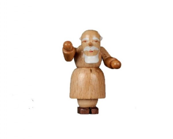 Albin Preißler Weihnachtsfigur Petrus, natur, 6 cm