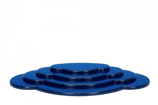 Wolke für Weihnachtsengel, blau, 4 - teilig, 45 cm von Christian Ulbricht GmbH & Co KG Seiffen/ Erzgebirge