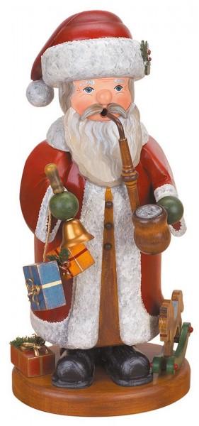 Räuchermännchen Weihnachtsmann von Hubrig Volkskunst GmbH Zschorlau/ Erzgebirge ist 35 cm groß.