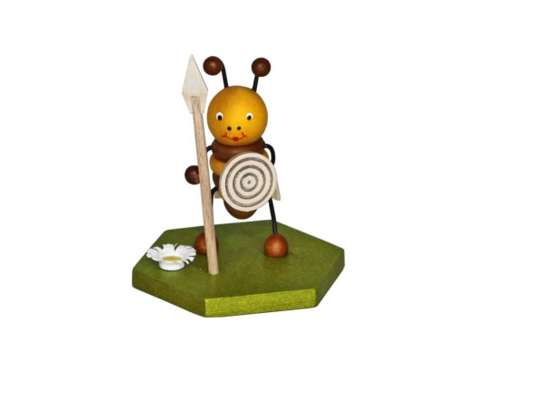 Wächter Biene, 8 cm von Volker Zenker aus Seiffen