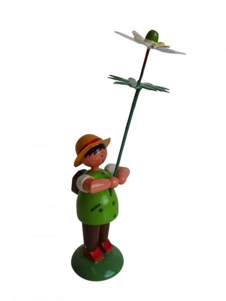 Blumenkinder - Blumenkind Junge mit Buschwindröschen, 11 cm von WEHA-Kunst Dippoldiswalde/ Erzgebirge
