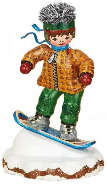 Winterkind Snowboardfahrer von Hubrig Volkskunst GmbH Zschorlau/ Erzgebirge ist 8 cm groß.