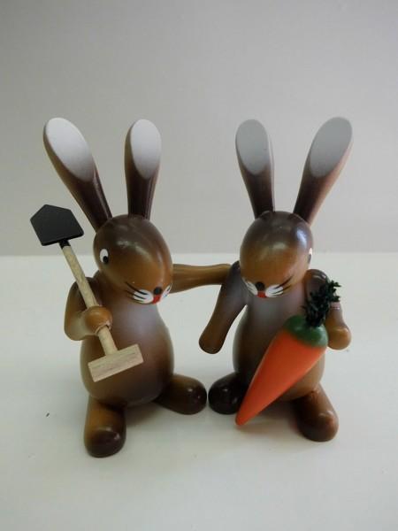Osterhasenpaar Hasenfreunde von Nestler-Seiffen