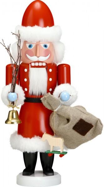 Ho, Ho, Ho ... Wer kommt dennn da von draussen rein ? Der Nussknacker Weihnachtsmann, 38 cm von der Seiffener Volkskunst eG Seiffen/ Erzgebirge. Dienten …