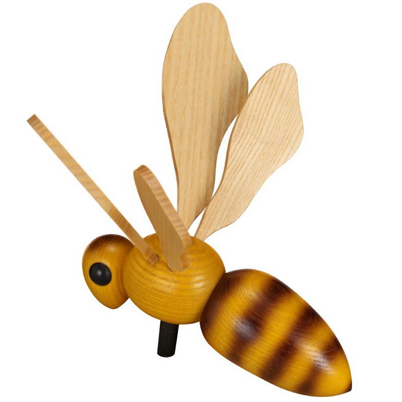 Dekofigur Biene zum stecken, 13 cm von Robbi Weber Seiffen/ Erzgebirge